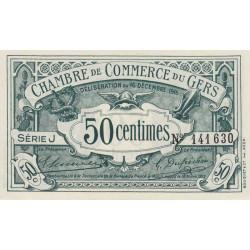 Auch (Gers) - Pirot 15-9 - 50 centimes - Série J - 16/12/1916 - Etat : SPL