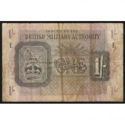 Grande-Bretagne - Pick M2 - 1 shilling - 1943 - Série E - Etat : B+