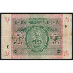 Grande-Bretagne - Pick M3 - 2 shillings 6 pence - 1943 - Série E - Etat : TB