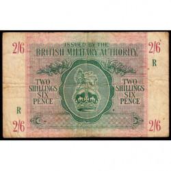 Grande-Bretagne - Pick M3 - 2 shillings 6 pence - 1943 - Série R - Etat : TB-
