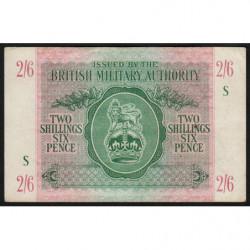 Grande-Bretagne - Pick M3 - 2 shillings 6 pence - 1943 - Série S - Etat : TTB