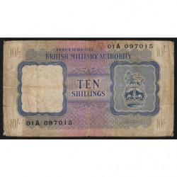 Grande-Bretagne - Pick M5 - 10 shillings - 1943 - Série A - Etat : B