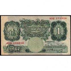 Grande-Bretagne - Pick 363c - 1 pound - 1934 - Etat : TB+