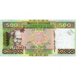 Guinée - Pick 39b - 500 francs guinéens - 2012 - Etat : NEUF