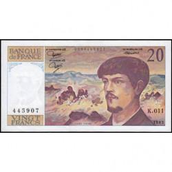 F 66-04 - 1983 - 20 francs - Debussy - K.011 - Etat : SUP