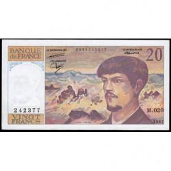 F 66-08 - 1987 - 20 francs - Debussy - Série M.020 - Etat : SUP