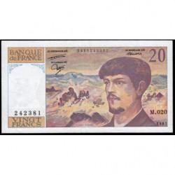F 66-08 - 1987 - 20 francs - Debussy - Série M.020 - Etat : TTB+
