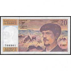 F 66bis-01 - 1990 - 20 francs - Debussy - F.027 - Etat : SUP