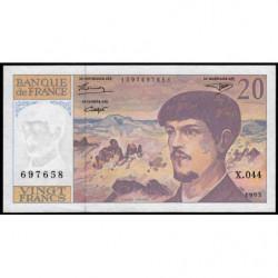 F 66bis-05 - 1993 - 20 francs - Debussy - X.044 - Etat : TTB+