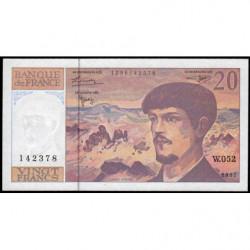 F 66ter-02 - 1997 - 20 francs - Debussy - W.052 - Etat : SPL+