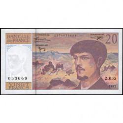 F 66ter-02 - 1997 - 20 francs - Debussy - Série Z.055 - Etat : NEUF