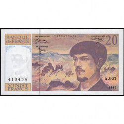 F 66ter-02 - 1997 - 20 francs - Debussy - A.057 - Etat : NEUF