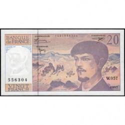 F 66ter-02 - 1997 - 20 francs - Debussy - W.057 - Etat : SUP