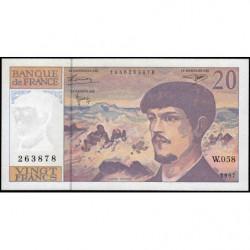F 66ter-02 - 1997 - 20 francs - Debussy - W.058 - Etat : NEUF