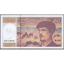 F 66ter-02 - 1997 - 20 francs - Debussy - W.059 - Etat : NEUF