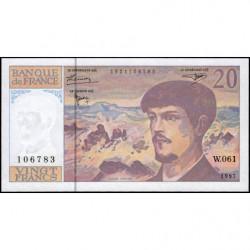 F 66ter-02 - 1997 - 20 francs - Debussy - W.061 - Etat : NEUF