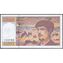 F 66ter-02 - 1997 - 20 francs - Debussy - A.062 - Etat : pr.NEUF
