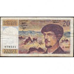 F 66-01 - 1980 - 20 francs - Debussy - Série G.002 - Etat : B+
