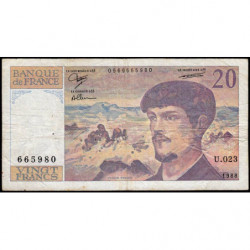F 66-09 - 1988 - 20 francs - Debussy - Série U.023 - Etat : TB