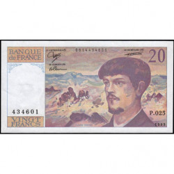 F 66-10 - 1989 - 20 francs - Debussy - Série P.025 - Etat : SUP+