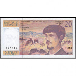 F 66bis-03 - 1992 - 20 francs - Debussy - Série H.035 - Etat : NEUF