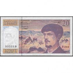 F 66bis-05 - 1993 - 20 francs - Debussy - Série P.044 - Etat : TTB