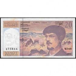 F 66ter-01 - 1995 - 20 francs - Debussy - W.048 - Etat : TB+