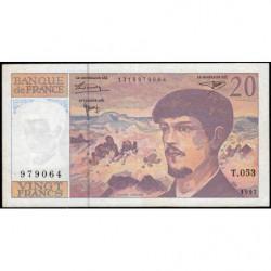 F 66ter-02 - 1997 - 20 francs - Debussy - Série T.053 - Etat : TB+