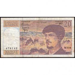 F 66ter-02 - 1997 - 20 francs - Debussy - W.054 - Etat : B+