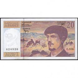 F 66ter-02 - 1997 - 20 francs - Debussy - C.056 - Etat : SUP+