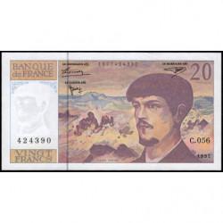 F 66ter-02 - 1997 - 20 francs - Debussy - C.056 - Etat : pr.NEUF