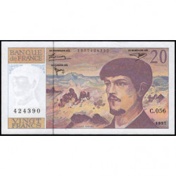 F 66ter-02 - 1997 - 20 francs - Debussy - Série C.056 - Etat : pr.NEUF