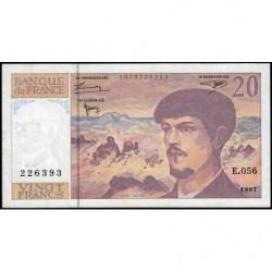 F 66ter-02 - 1997 - 20 francs - Debussy - E.056 - Etat : TB