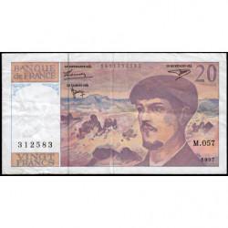 F 66ter-02 - 1997 - 20 francs - Debussy - M.057 - Etat : TB+
