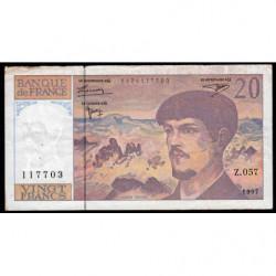 F 66ter-02 - 1997 - 20 francs - Debussy - Z.057 - Etat : TB-