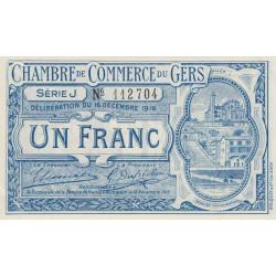 Auch (Gers) - Pirot 15-10b - Série J - 1 franc - 1916 - Etat : SUP+