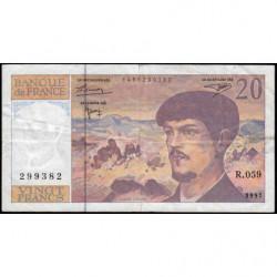 F 66ter-02 - 1997 - 20 francs - Debussy - R.059 - Etat : TB