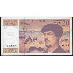 F 66ter-02 - 1997 - 20 francs - Debussy - W.059 - Etat : TB