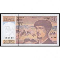 F 66ter-02 - 1997 - 20 francs - Debussy - W.060 - Etat : NEUF
