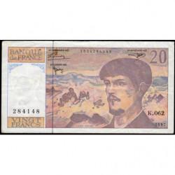F 66ter-02 - 1997 - 20 francs - Debussy - K.062 - Etat : TB+
