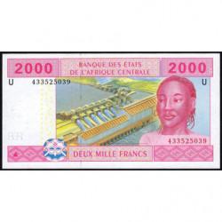 Cameroun - Afrique Centrale - Pick 208Ud - 2'000 francs - 2010 - Etat : NEUF