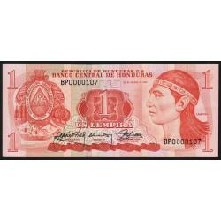 Honduras - Pick 68c - 1 lempira - 30/03/1989 - Etat : pr.NEUF