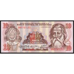 Honduras - Pick 70 - 10 lempiras - 21/09/1989 - Etat : NEUF