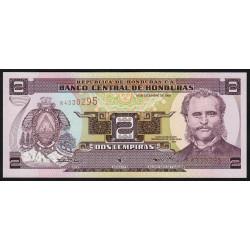 Honduras - Pick 80Ab - 2 lempiras - 14/12/2000 - Etat : NEUF
