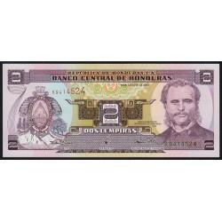 Honduras - Pick 80Ac - 2 lempiras - 30/08/2001 - Etat : NEUF