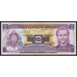 Honduras - Pick 80Ae - 2 lempiras - 26/08/2004 - Etat : NEUF
