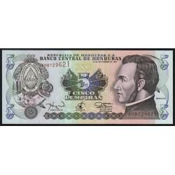 Honduras - Pick 81b - 5 lempiras - 18/09/1997 - Etat : NEUF