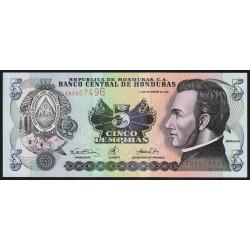 Honduras - Pick 85a - 5 lempiras - 14/12/2000 - Etat : NEUF