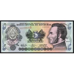 Honduras - Pick 85d - 5 lempiras - 26/08/2004 - Etat : NEUF
