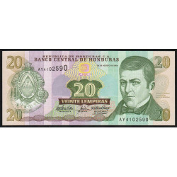 Honduras - Pick 92 - 20 lempiras - 26/08/2004 - Etat : NEUF